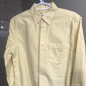 Casual light yellow button down